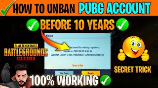 How To UNBAN PЏBG MOBILE Account   How To Unban PUBG Account 10 Years Ban