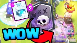 WOW! Clash Royale Graveyard Deck Surprising Opponents!