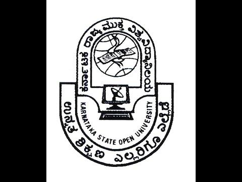 Distance Education Karnataka State Open University BA MBA Mysore KSOU