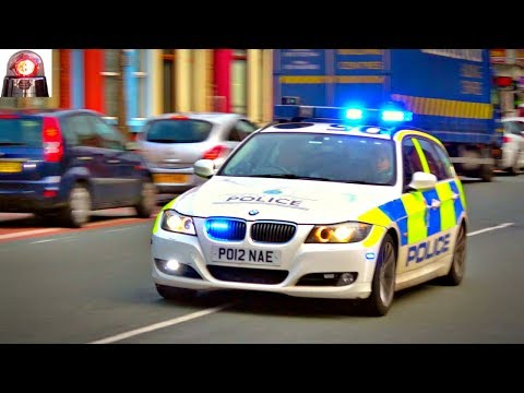Merseyside Police BMW Responding Lights and Sirens