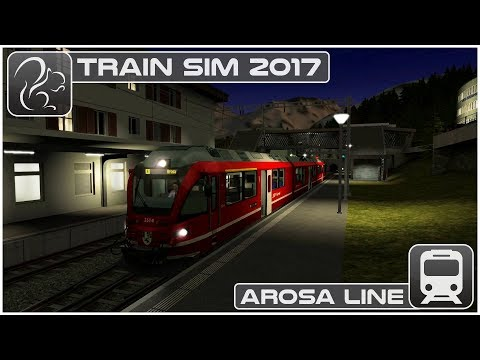 Arosa Line - Climbing the Swiss Alps - Train Simulator 2017