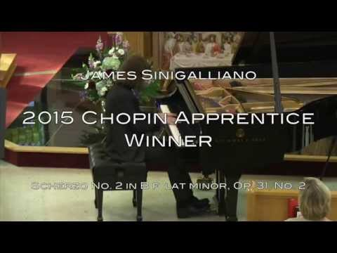 James Sinigalliano - 2015 CDCYM Chopin Piano Competition Apprentice Winner - Scherzo in B♭ minor