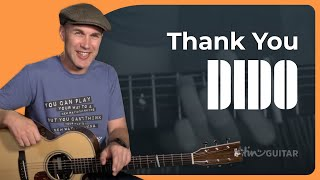Dido - Thank You Guitar Lesson Tutorial Easy Beginner Acoustic Stan Eminem