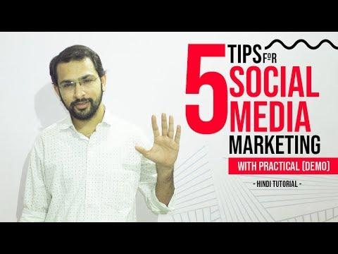 5 tips for social media marketing with practical | Hindi Tutorial | Vishaldeep Dhamecha thumbnail