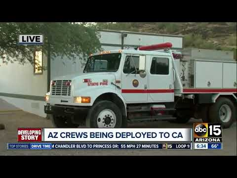 Arizona sending fire engines, firefighters to aid California