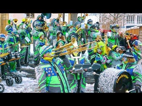 Fasnet Pfullingen 2016 4K Band Kieselbronner Gugge Gaisse Guggenmusik Konzert. Carnival Germany.