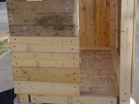 My first pallet project building a chicken coop