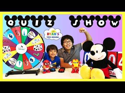 Thumbnail: DISNEY QUIZ CHALLENGE Family Fun for Kids Disney Pixar Cars Mickey Mouse Mr Potato Head Toys