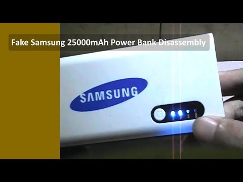 Fake Samsung 25000mAh Power Bank Disassembly