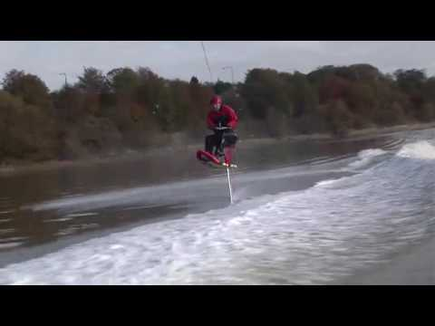water skiing kneeboard air chair on rods boat in lancaster 17 10 09
