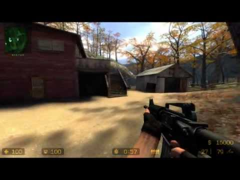 Jogando Counter-Strike Source Online!