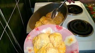 Голубцы Рецепт блюда из мяса с пекинской капустой приготовить на ужин второе домашние быстро вкусно