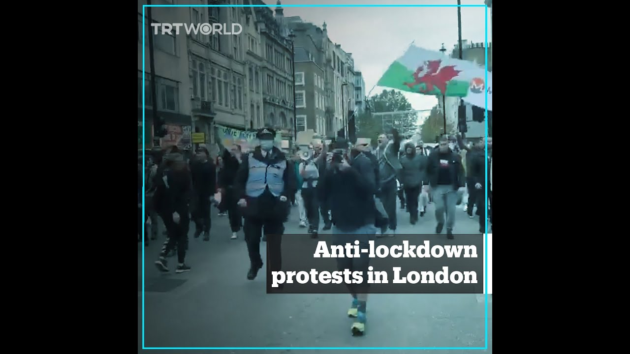 Fourth week of anti-lockdown protests in London
