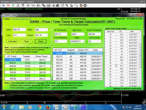 How To Trade a Stock With Gann Price Time Positional Calculator