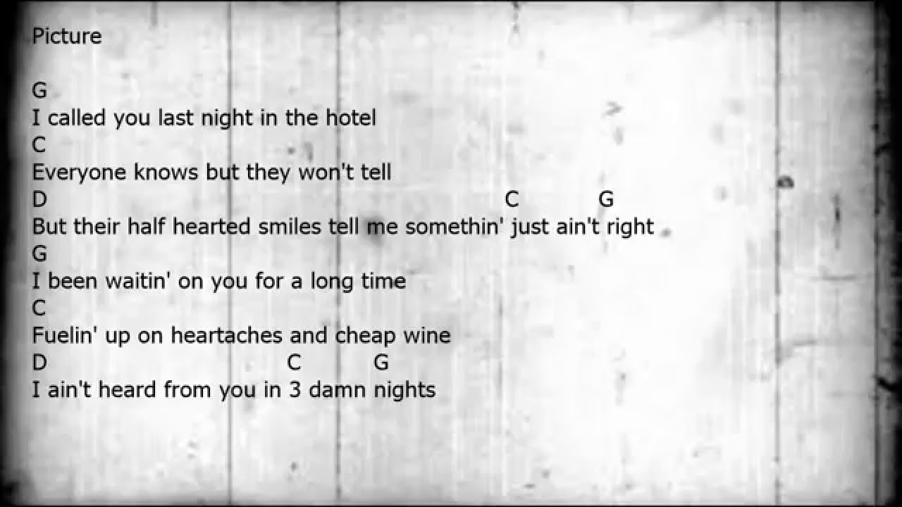 Picture - Guitar/Chords/Lyrics - YouTube