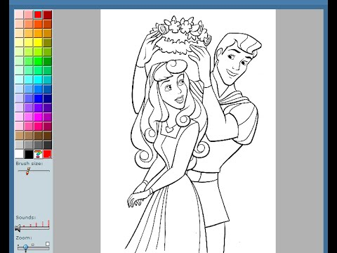 Sleeping Beauty Coloring Pages For Kids - Sleeping Beauty Coloring ...