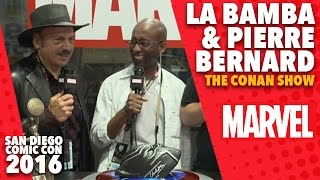 La Bamba and Pierre Bernard on Marvel LIVE! at San Diego Comic-Con 2016