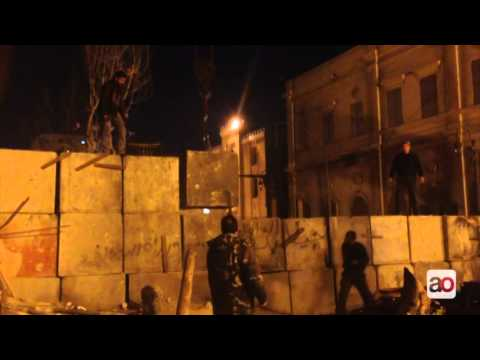 Egypt Authorities remove Downtown Cairo security wall after two years تفكيك جدار القصر العيني