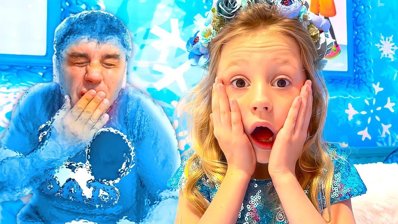 Nastya e papai desafio quente vs frio