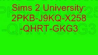 Sims 2 Registration Codes 4 u