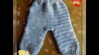 Как связать штанишки крючком  - основной вариант. How to knit crochet panties