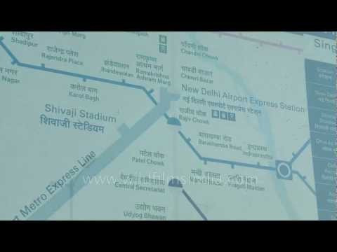 Route map of Delhi Airport Metro Express line
