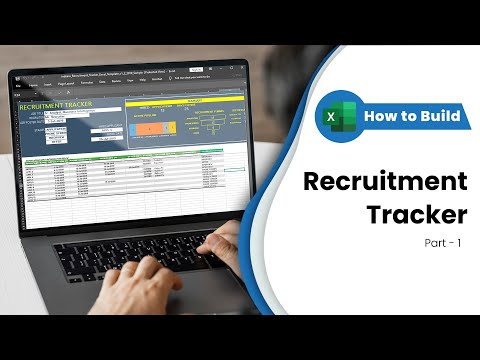 Recruitment Tracker Excel Template - Building Step by Step - Part 1