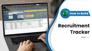 Step by video tutorial on how to create a recruitment tracker excel template. - part 1 setting up inputs and calculating metrics. download the templat...