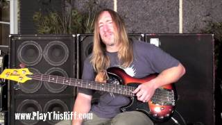 Scott Reeder's Metallica try out / Space Cadet bass lesson. PlayThisRiff.com