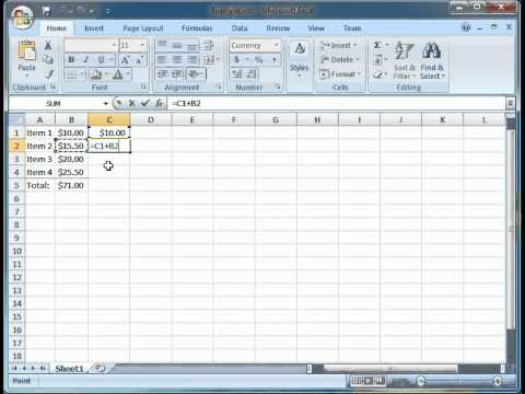 How to Create a Running Total in Excel