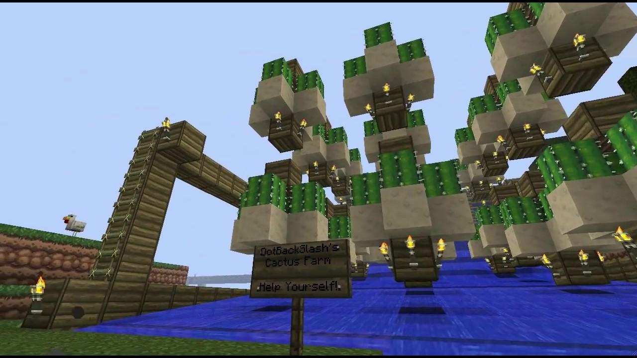Minecraft - Simple Cactus Farm Design