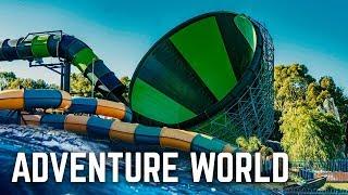 ALL WATER SLIDES at Adventure World Perth, Australia!