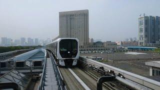 [駅名改称で長くなった!] ゆりかもめ7300系41編成 東京国際クルーズターミナル(U-08)到着