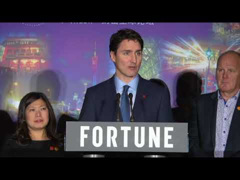 Justin Trudeau concludes China visit with news conference - 07 Dec 2017