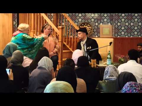 Amber takes Shahada at Taleef with Usama Canon