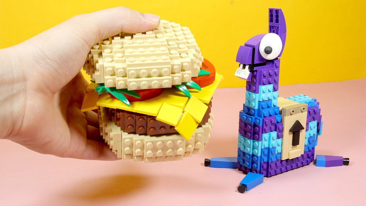 LEGO FORTNITE : Beef Boss Burger In Real Life | Animation Stop Motion Cooking ASMR