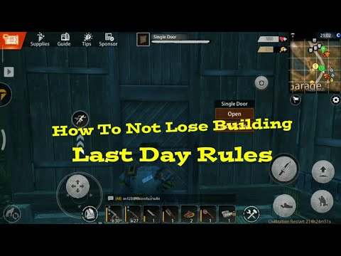 Tips And Tricks How To Not Lose Building - Last Day Rules Survival