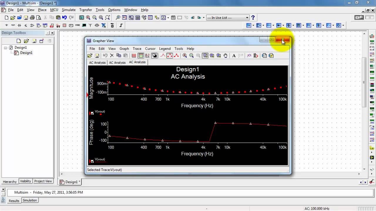 Ni Multisim Ac Analysis Frequency Response Youtube Software For Electronic Circuit Design