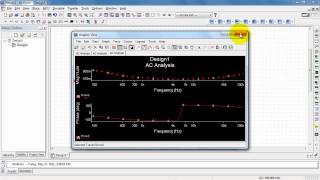 NI Multisim: AC Analyse frequentie response