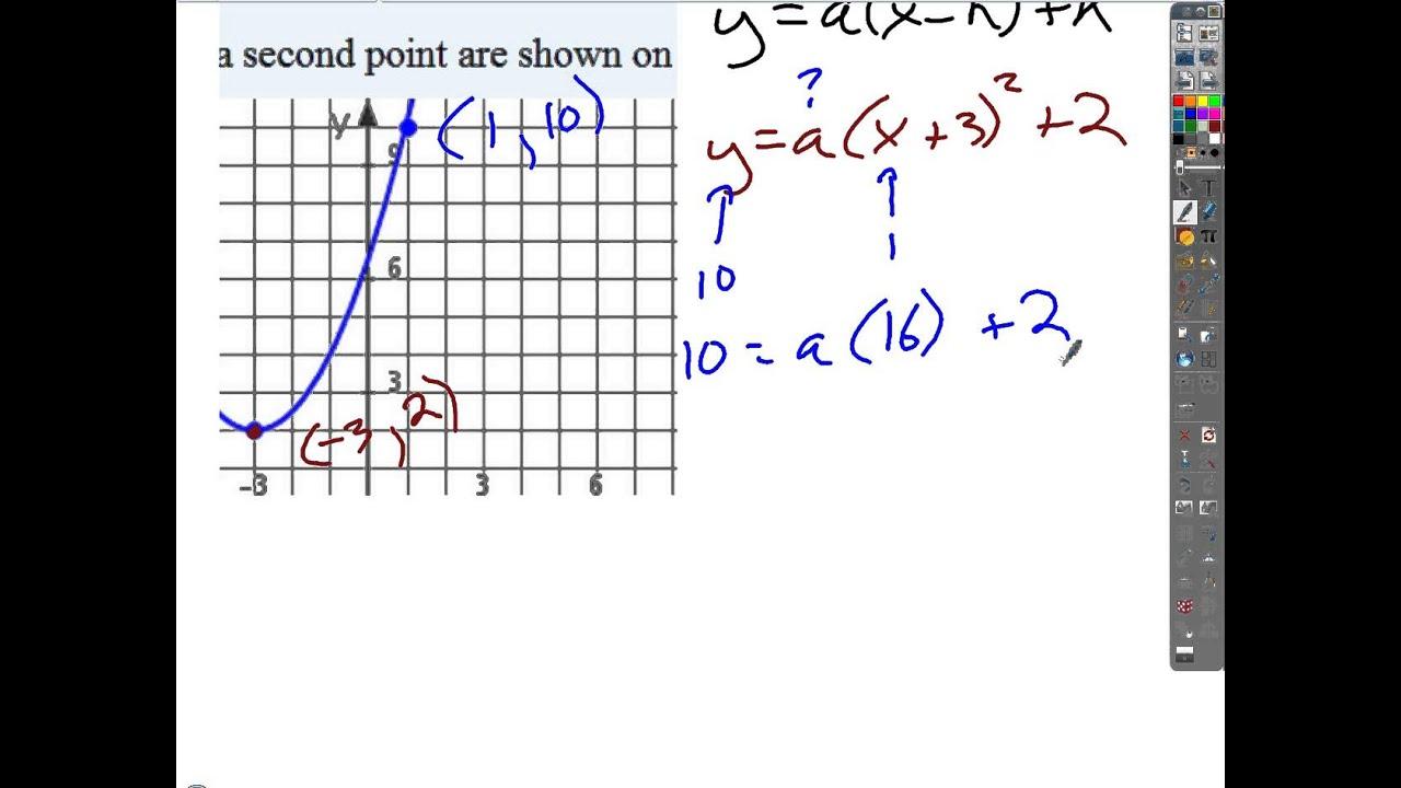 Quadratic Functions Test Review