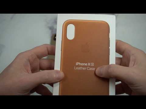 official-apple-leather-case-(for-iphone-xs)---saddle-brown-unboxing-and-review