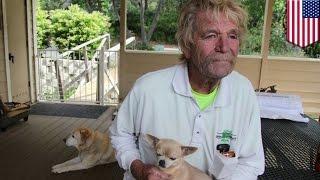 Пожилой мужчина дал в морду медведю, защищая своего пса