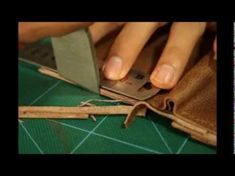 Quy trình làm ví da handmade