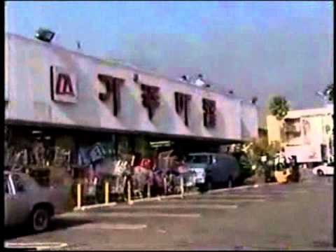 LA Riots - Armed store owners deter rioters