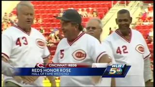 Pete Rose inducted into Reds Baseball Hall of Fame