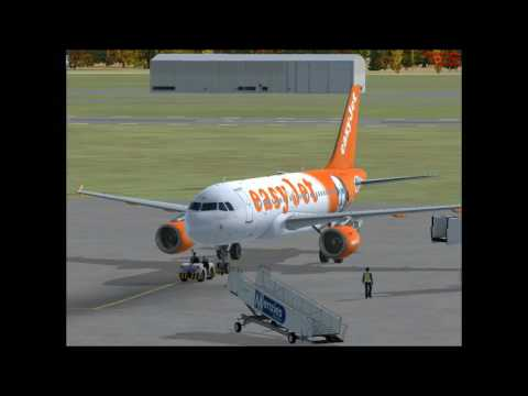 FSX Aerosoft Airbus X A320 Family Tests at Durham Tees Valley Airport