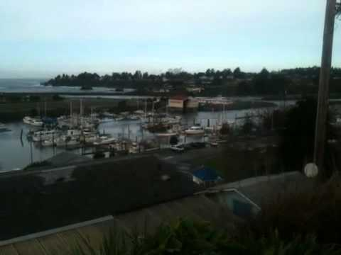First Tsunami Surge in Harbor, Oregon