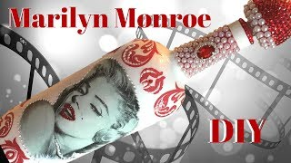 Marilyn Monroe Decoupage Wine Bottle DIY Mp3