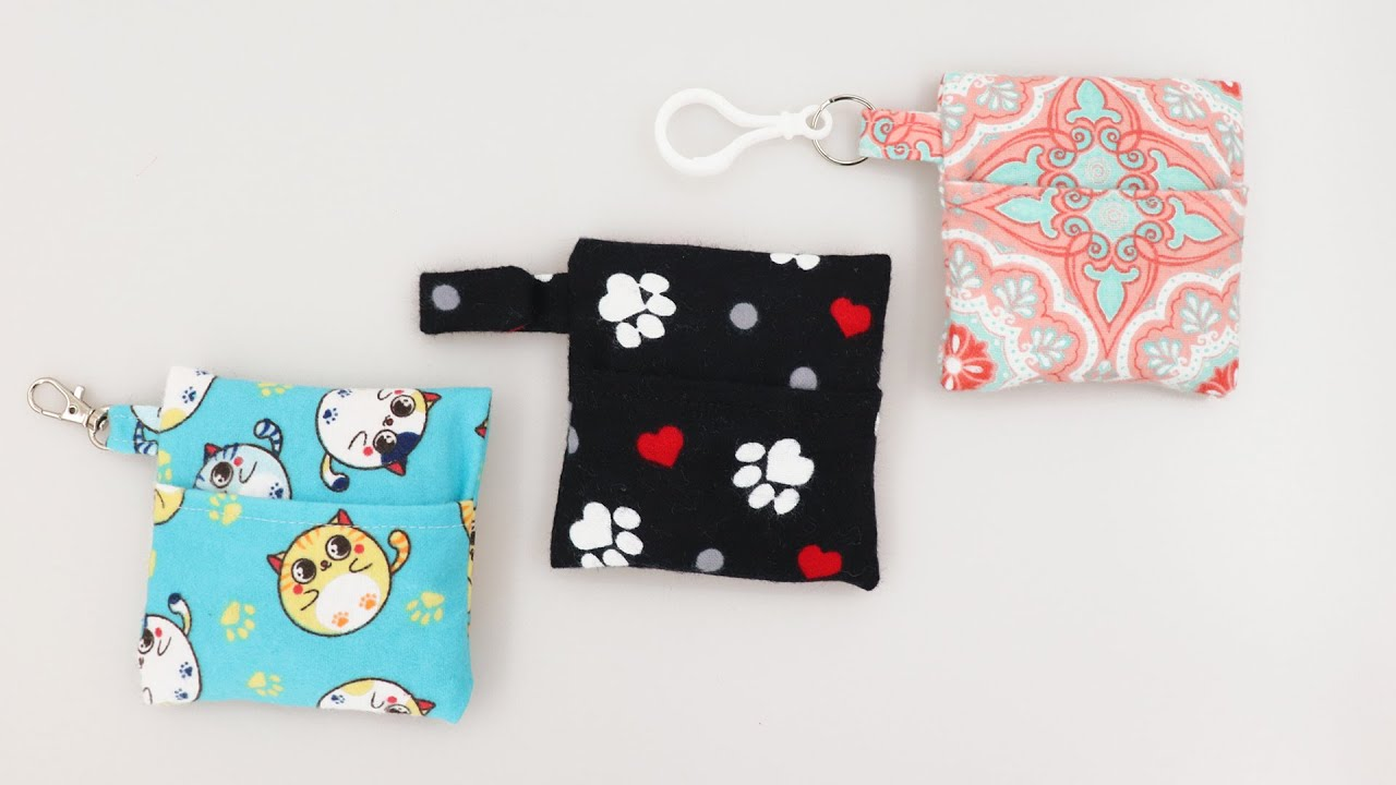 Keychain Pouch Pouch for Mask Storage Bag Winter Pattern Pouch