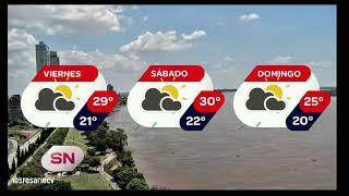 Pronóstico extendido Alerta meteorológico y baja de temperatura para el domingo